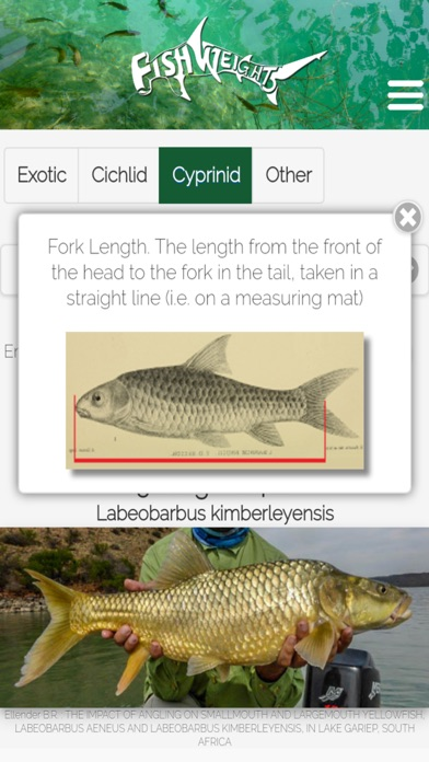 Screenshot for FishWeights South Africa in South Africa App Store