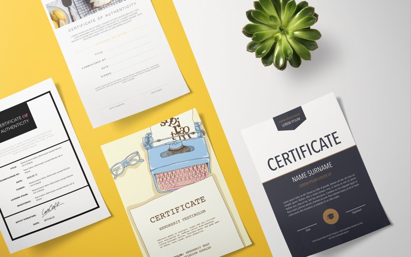 Certificate Templates - DesiGN Screenshots