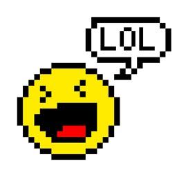 Pixel Style Emoji LOL Stickers