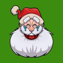 Santa Emoji Holiday Stickers