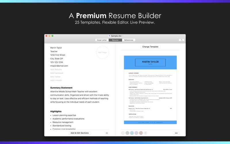 resume builder by nobody app price drops