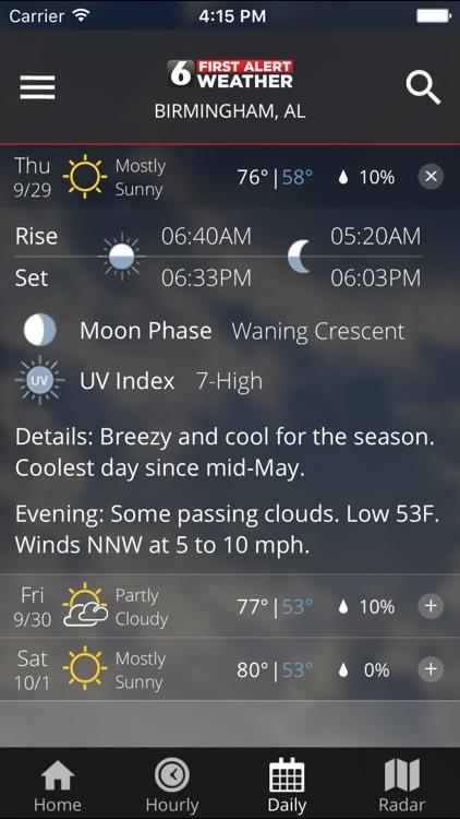 WBRC First Alert Weather screenshot-4