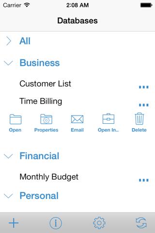 HanDBase Database Manager screenshot 1