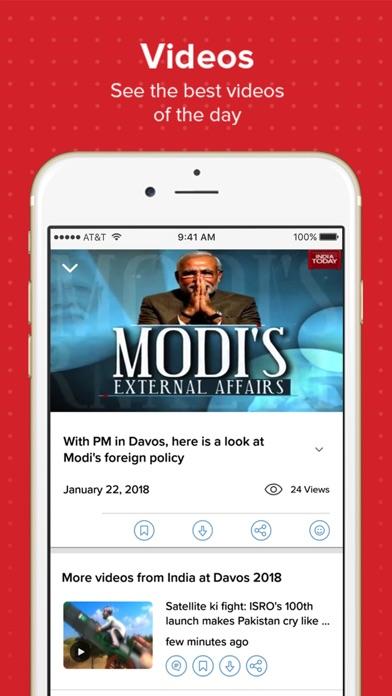 India today TV English News Screenshot on iOS