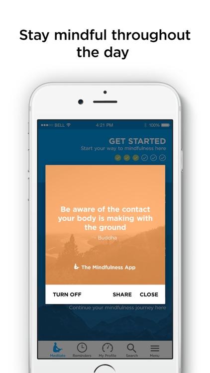 The Mindfulness App - meditate screenshot-3