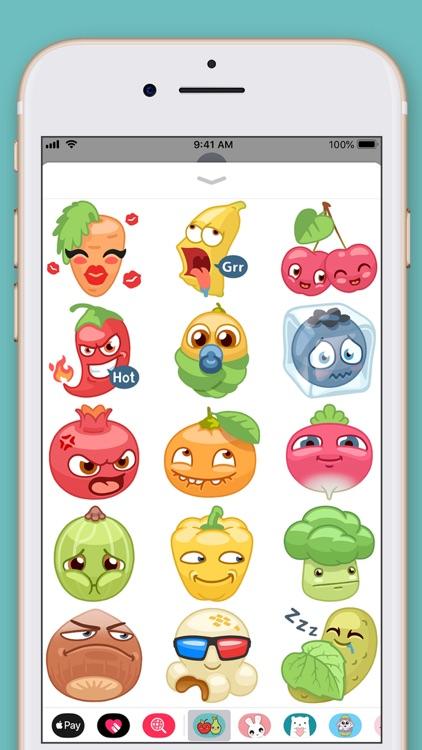 Cute Fruit Kawaii Stickers screenshot-3
