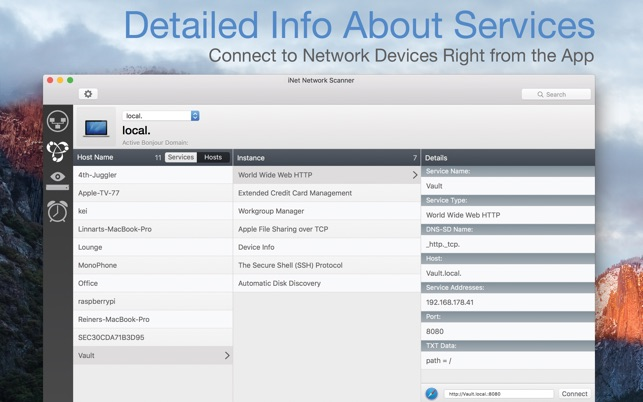 iNet Network Scanner Screenshot