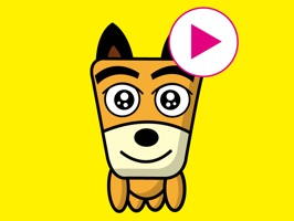 TF-Dog ( Trapezoidal Face Dog ) Animation 10 Stickers