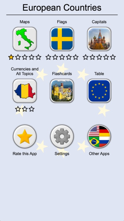 European Countries - Maps Quiz by Andrey Solovyev