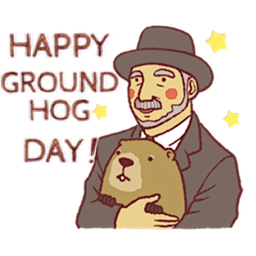 Happy Groundhog Day Sticker