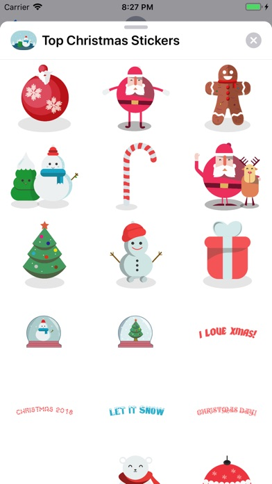 Top Christmas Stickers screenshot 1
