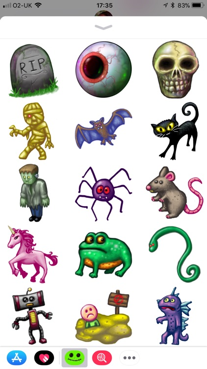 Creepy Spooky Stickers