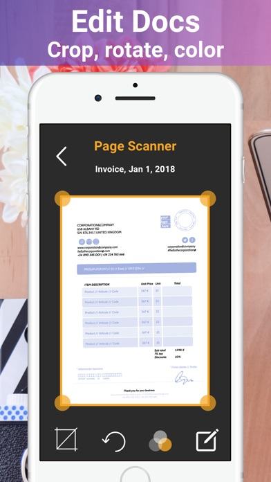 Page Scanner - Scan PDF Docs Screenshots