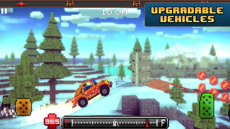 Blocky Roads Winterland screenshot-4