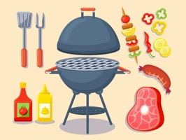 Barbecue Party Stickers