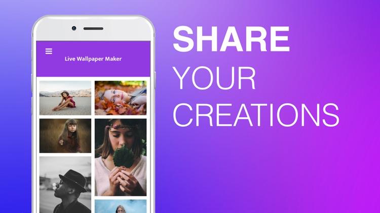 Live Wallpaper Maker LiveMaker. iPhone iPad