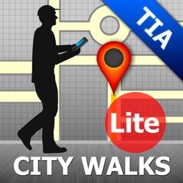 Tirana Map and Walks