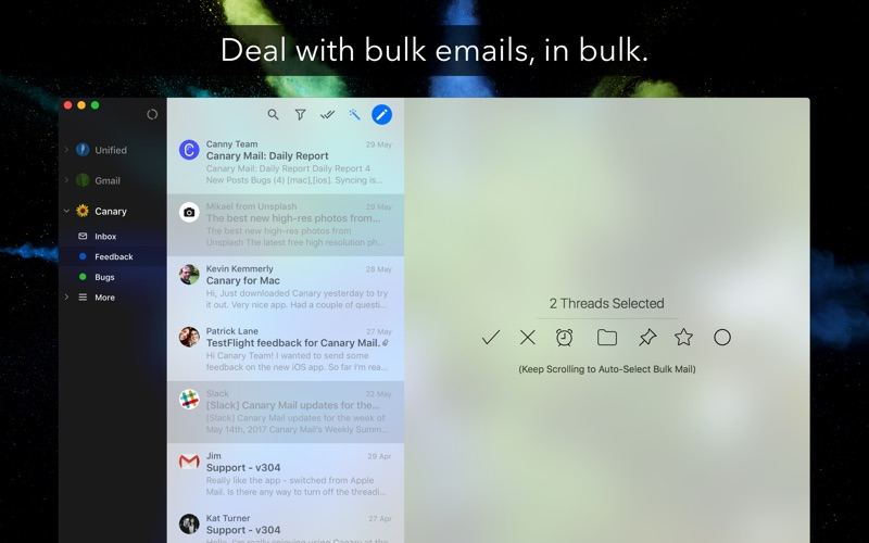 Canary Mail Screenshots