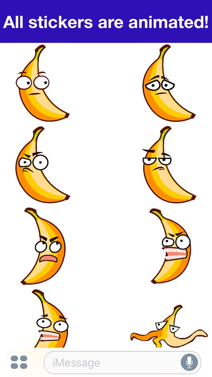 Banana Animated -Cute stickers screenshot-3