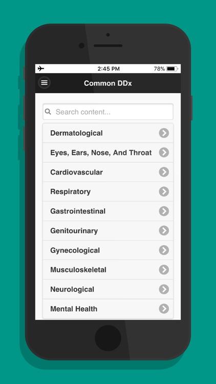 Common Differential Diagnosis