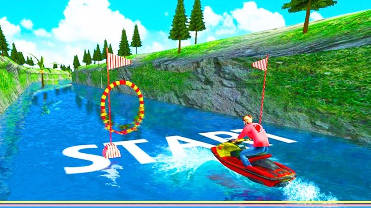 Water Surfing Speed Boat Racer screenshot-5
