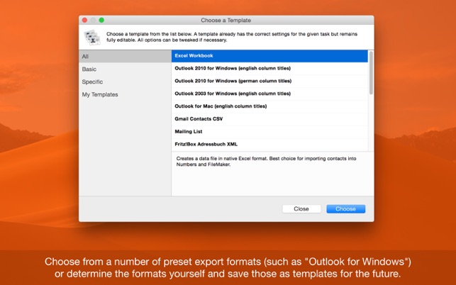 Exporter For Contacts On The Mac App Store
