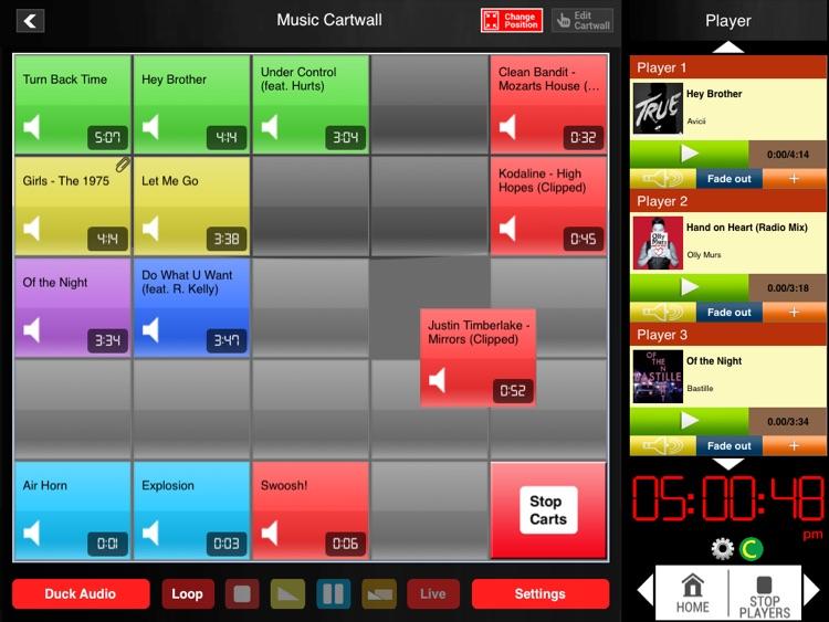 Audio Cartwall Studio for iPad