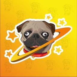 Pug Bo Emoji Stickers