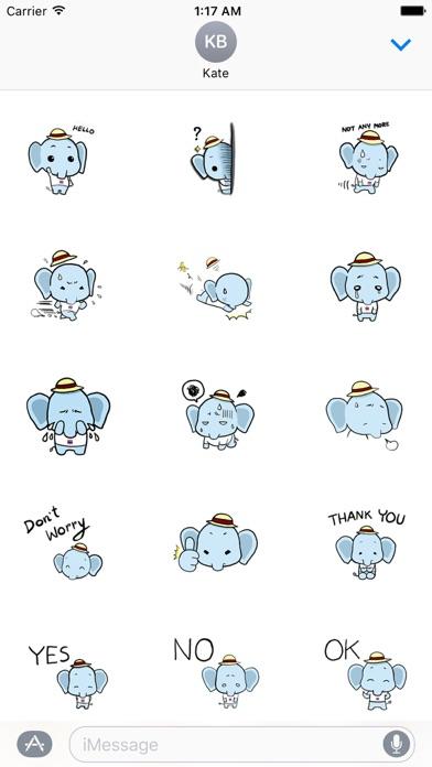 Cute Little Elephant Sticker screenshot 1