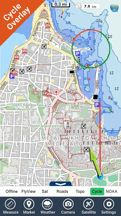 Rhodes - GR Island - GPS Chart