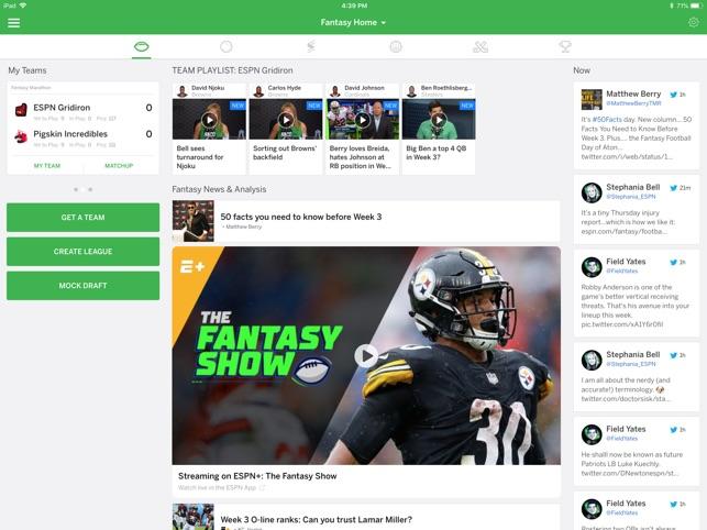 Espn Fantasy Sports On The App Store