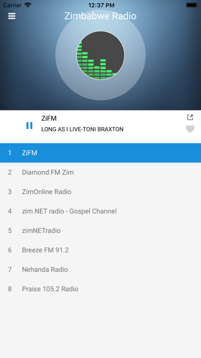 Zimbabwe Radio Station FM Live screenshot two