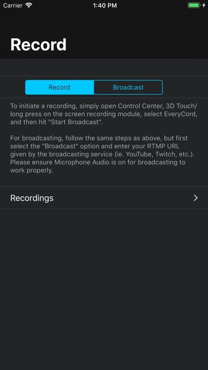 EveryCord - Record & Broadcast