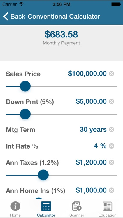 NAF Mortgage Calculator
