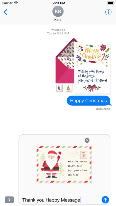 Christmas Letter with Message screenshot 5