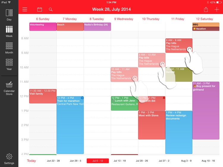 Week Calendar for iPad screenshot-4
