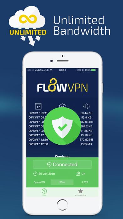 Flow VPN by Portable Ltd (iOS, United States) - SearchMan