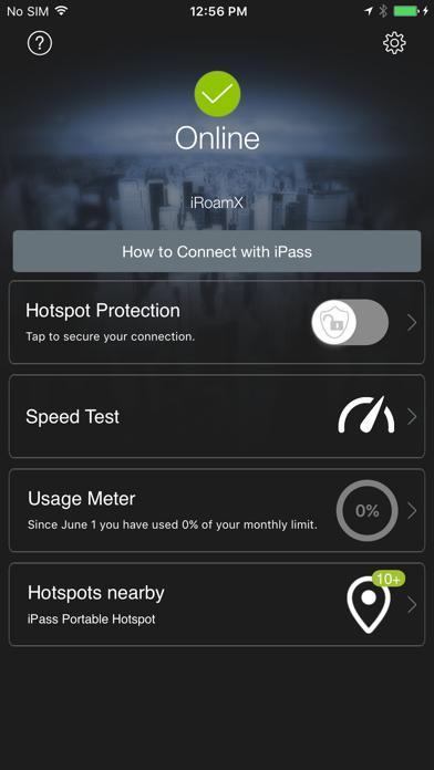 iPass SmartConnect™ Screenshot on iOS