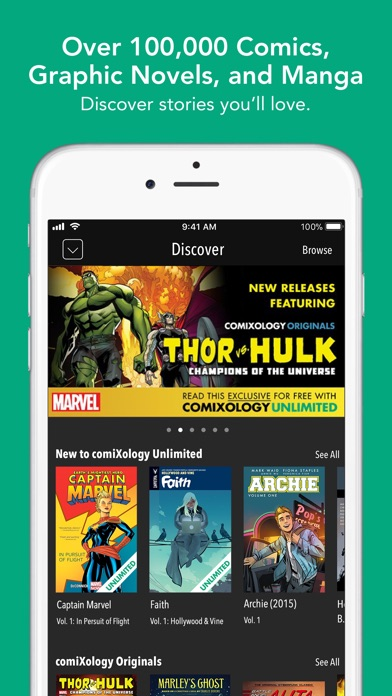 Screenshot for comiXology - Comics & Manga in United States App Store