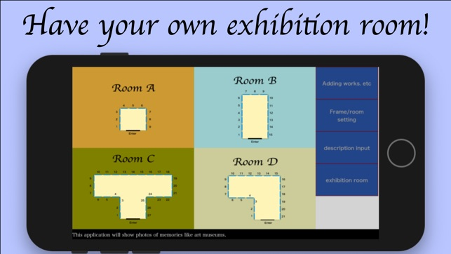 ‎my exhibition room -for APP-