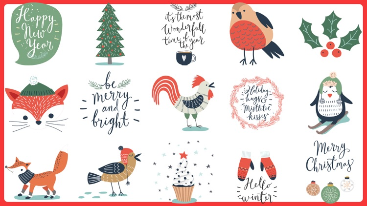 Christmas Stickers.100 Merry Christmas Stickers By Salma Akter