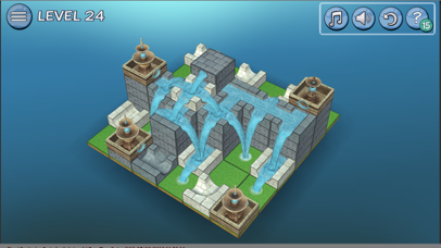 Flow Water Fountain 3D Puzzle Screenshot on iOS