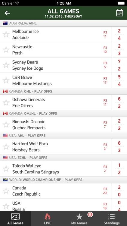Ice Hockey 24 - live scores