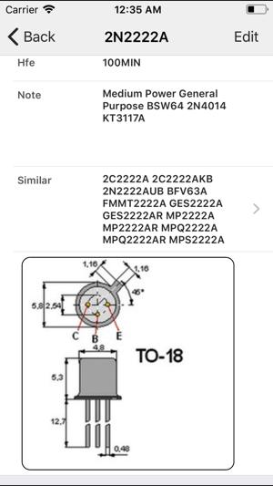 logiciel equivalence transistor