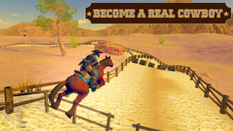 Wild West Cowboy-Rodeo Horse screenshot-0
