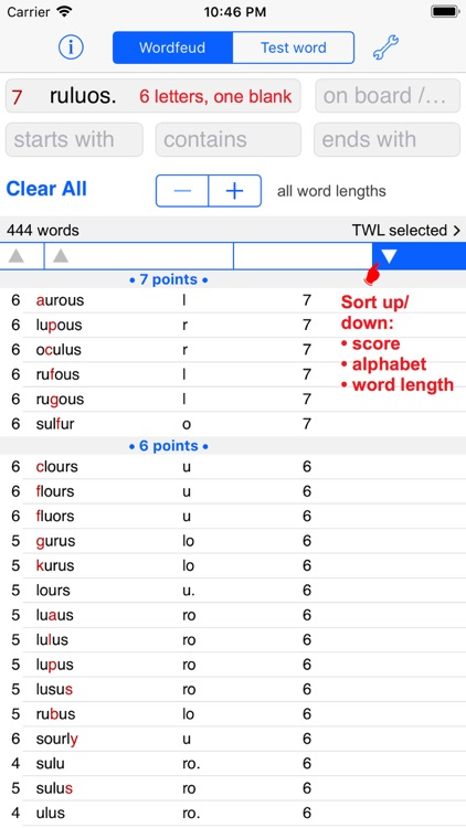 Words Finder Wordfeud/TWL
