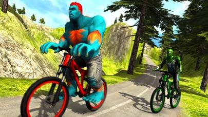 Offroad Superhero Bicycle Race screenshot four
