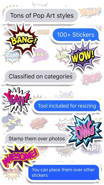 Comics Pop Art Stickers screenshot-3