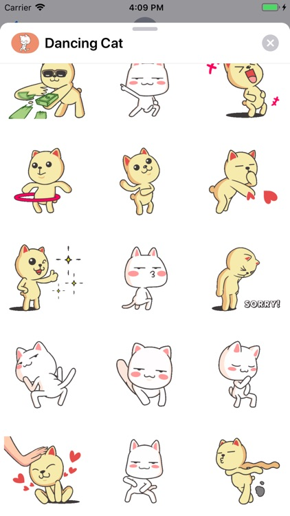 Dancing Cat Animated Stickers