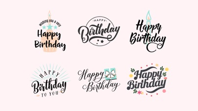 Happy Birthday Stickers WishesScreenshot of 2
